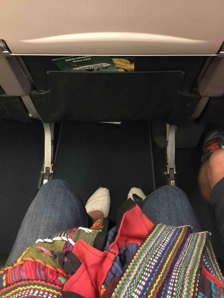 Frontier Airlines Airbus A319 100 extra legroom on stretch seats