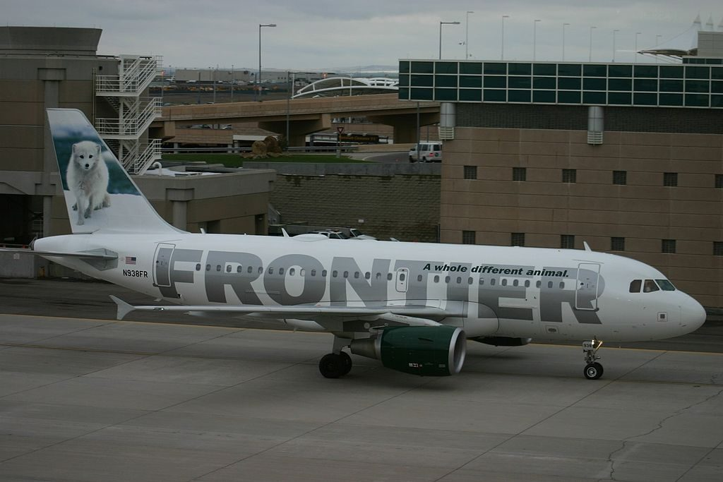 Frontier Airlines Airbus A319 111 N938FR Misty the Arctic Fox at Denver International Airport