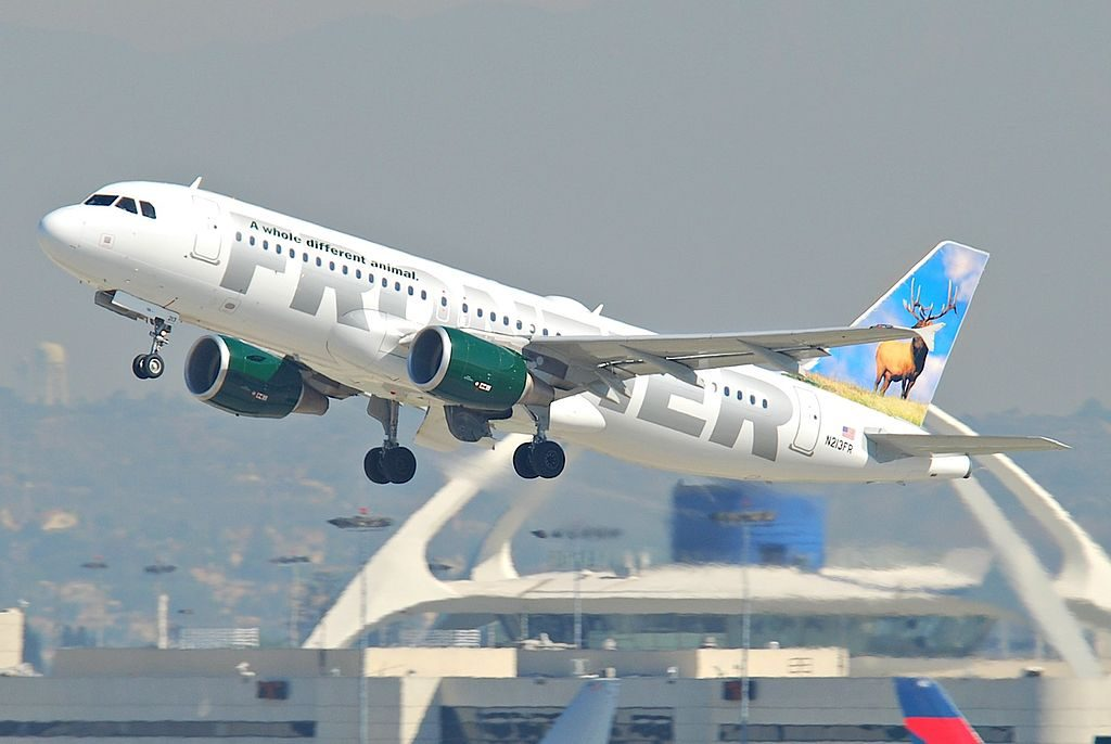 Frontier Airlines Airbus A320 214 N213FR Montana departing LAX