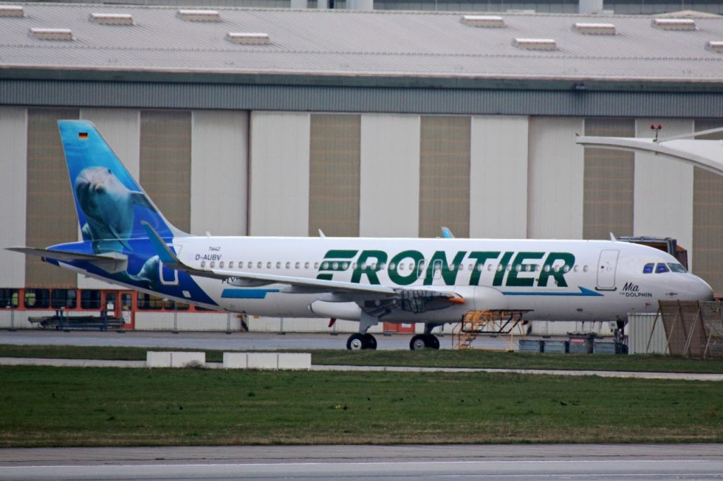 Frontier Airlines Airbus A320neo N311FR MSN 7642 Mia the Dolphin at Hamburg Finkenwerder Airport