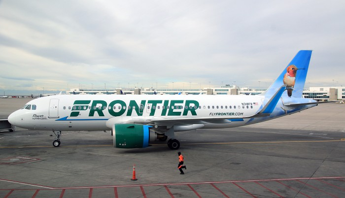 Frontier Airlines Airbus A320neo N318FR Flower the Hummingbird