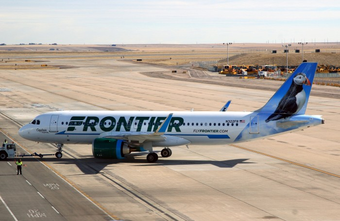 Frontier Airlines Airbus A320neo N322FR Captain the Puffin 1