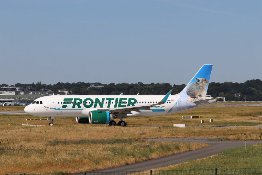 Frontier Airlines Airbus A320neo N331FR delivery flight from the Choo the Pika
