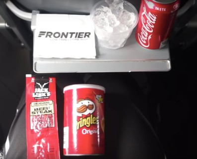 Frontier Airlines Airbus A321 200 On Board Services Snacks and Drinks
