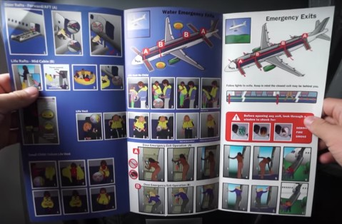 Frontier Airlines Airbus A321 200 Safety Cards