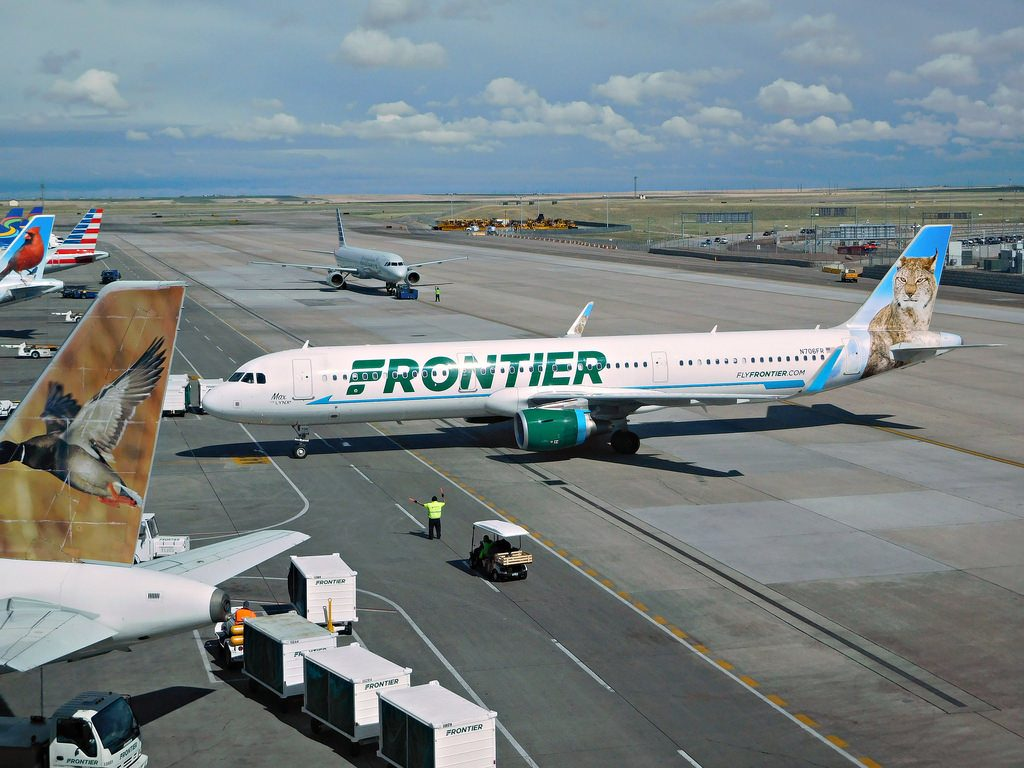 Frontier Airlines Airbus A321 211 N706FR Max the Lynx Livery