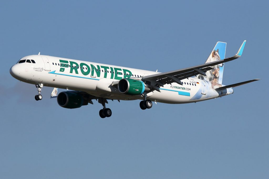 Frontier Airlines Airbus A321 211WL cn 7536 N717FR Luna Lilly the Wolves