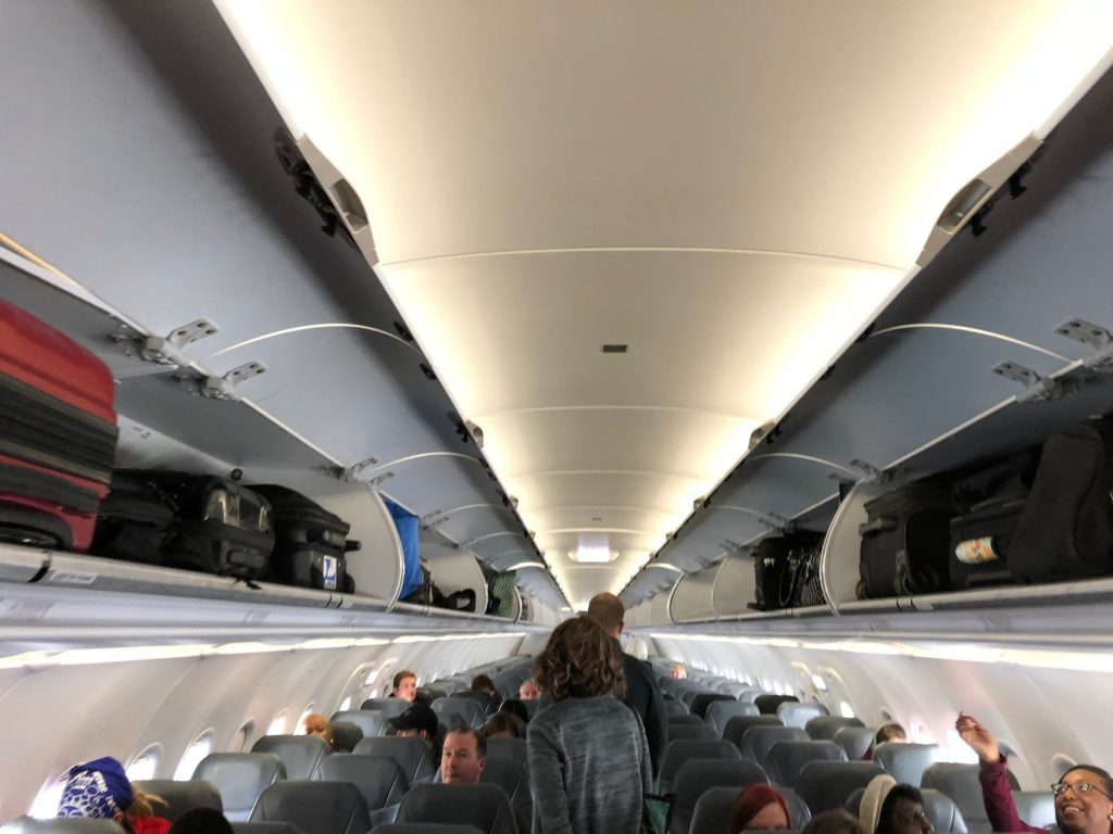 Frontier Airlines Airbus a320neo Cabin Inteiror and Seats Configuration