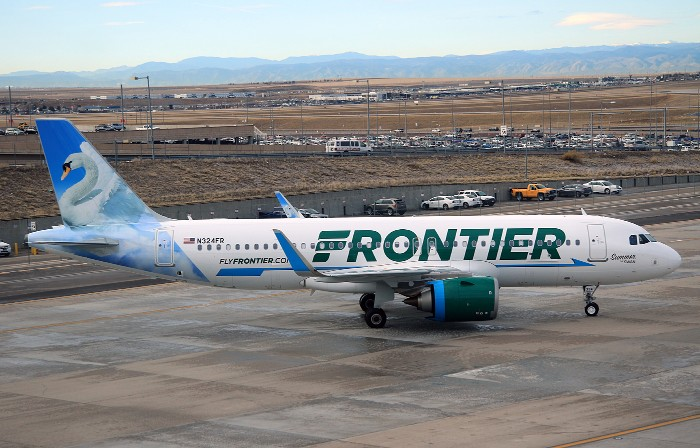 Frontier Airlines Aircraft Airbus A320neo N324FR Summer the Swan