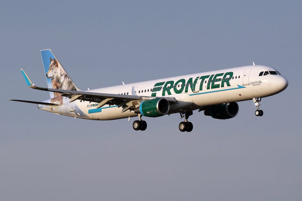 Frontier Airlines Aircraft Fleet Airbus A321 211WL cn 7536 N717FR Luna Lilly the Wolves