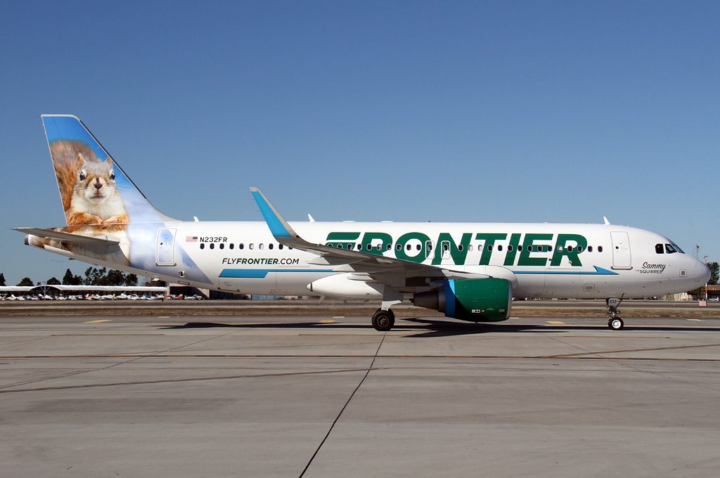 Frontier Airlines Fleet Airbus A320 214 cn 6838 N232FR Sammy the Squirrel Aircraft Photos