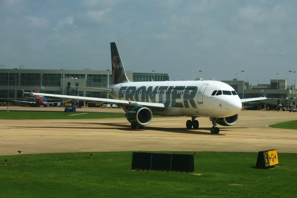 Frontier Airlines N202FR Colorado Airbus A320 200 taxiing at Austin Bergstrom