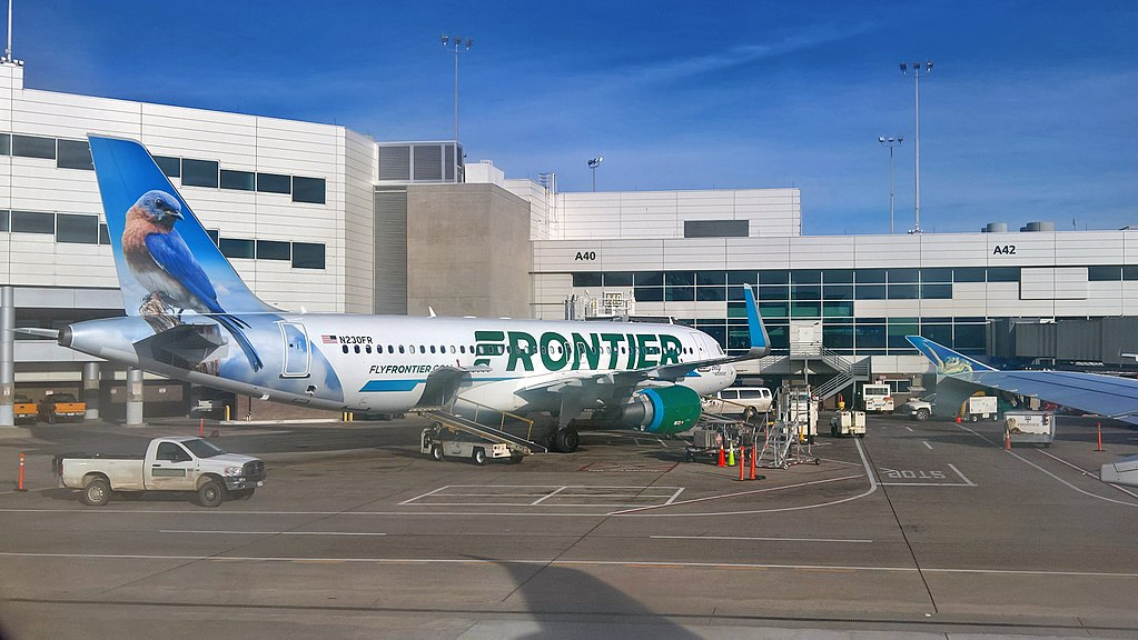 Frontier Airlines N230FR Betty The Bluebird Airbus A320 200 at Denver International Airport