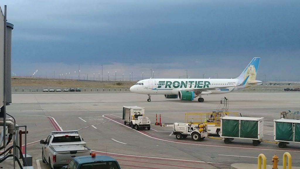 Frontier Airlines N303FR Airbus A320neo Poppy the Prairie Dog at Denver International Airport
