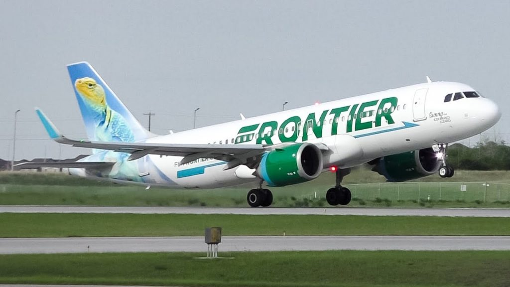 Frontier Airlines N310FR Airbus A320neo Sunny the Collared Lizard Arrival and Departure at Calgary Airport