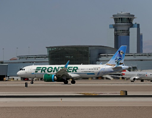 Frontier Airlines N326FR Airbus A320neo Skye The Blue Jay 1