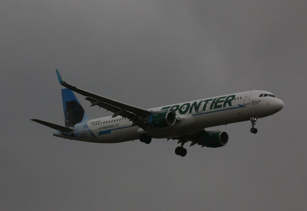 Frontier Airlines N719FR Airbus A321 200 Midnight the Wolf