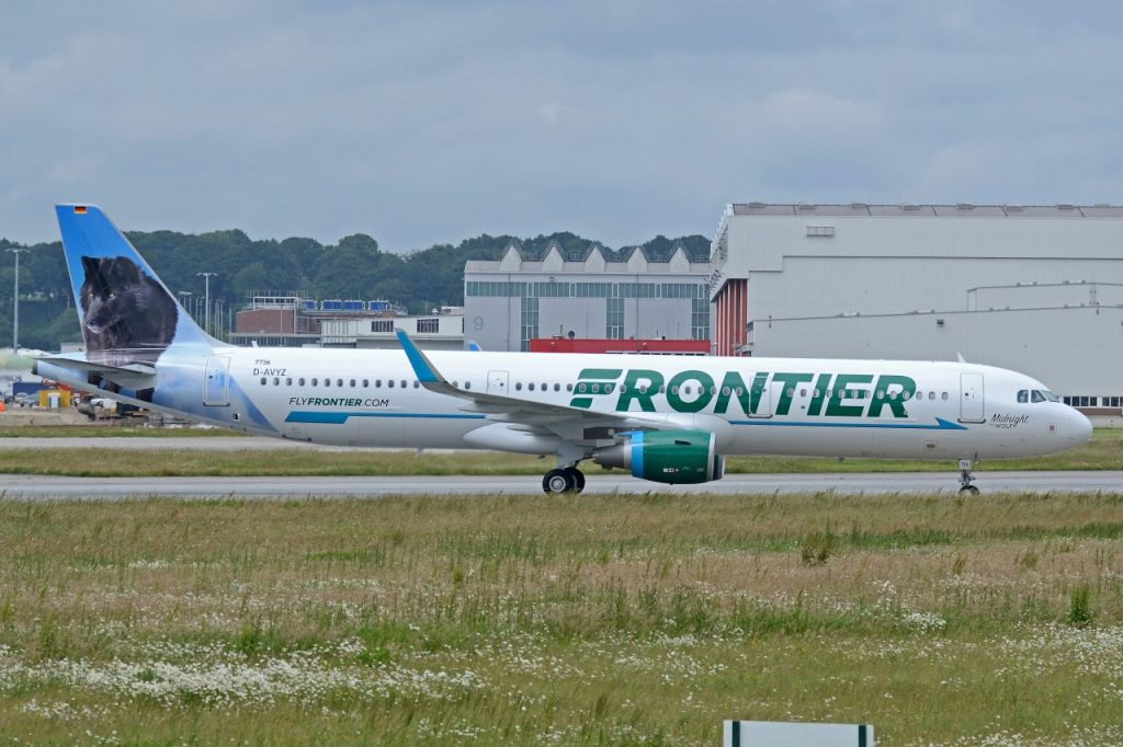Frontier Airlines N719FR Airbus A321 211SL Midnight the Wolf MSN 7736