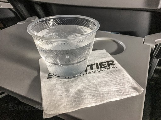 Frontier Airlines Stretch seats Airbus A320 200 inflight water services @SANspotter