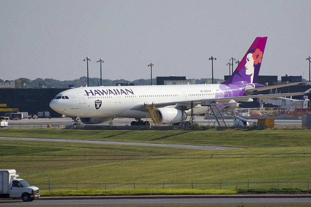 Hawaiian Airlines Airbus A330 243 cnserial number 1422 N393HA Lehuakona at Baltimore Washington International Thurgood Marshall Airport