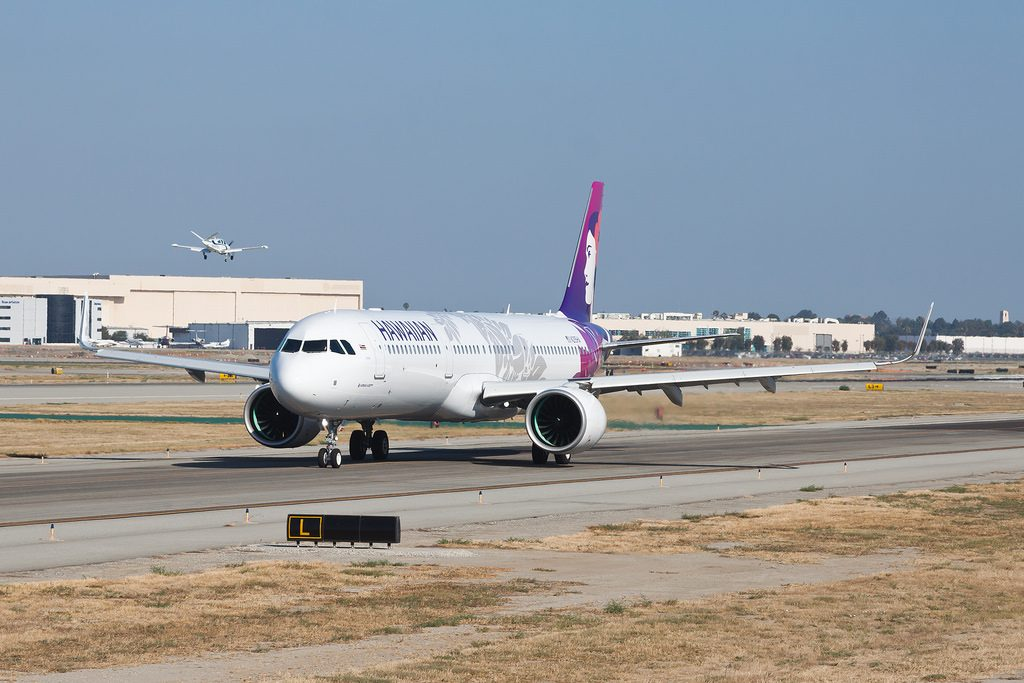 Hawaiian Airlines Aircraft Fleet Airbus A321 271N A321Neo cn 8266 N215HA 22Uhiuhi22 Taxiing on Runway and ready for takeoff