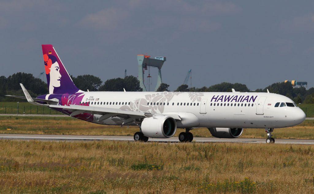 Hawaiian Airlines Aircraft Fleet Airbus A321 271N A321neo N209HA MSN 8186 22Iliahi22 at Hamburg Finkenwerder Airport IATA XFW ICAO EDHI