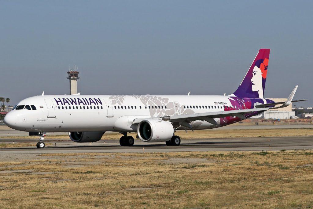 Hawaiian Airlines Aircraft Fleet Airbus A321 271N A321neo cn 8092 N205HA 22Kalo22 departs Long Beach Airport LGBKLGB to Daniel K Inouye International Airport HNLPHNL Honolulu