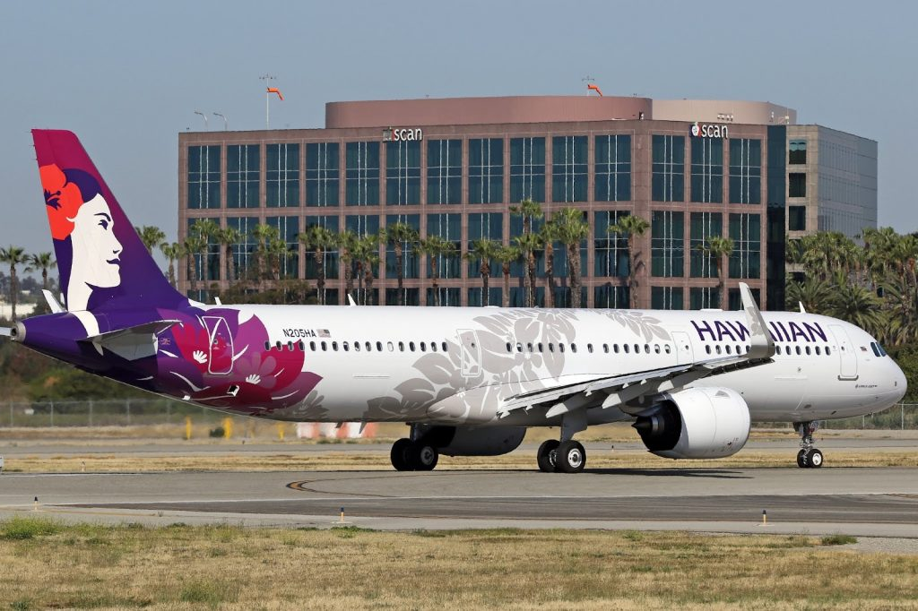 Hawaiian Airlines Aircraft Fleet Airbus A321 271N A321neo cn 8092 N205HA 22Kalo22 departs Long Beach Airport LGBKLGB to Daniel K Inouye International Airport HNLPHNL Honolulu 2
