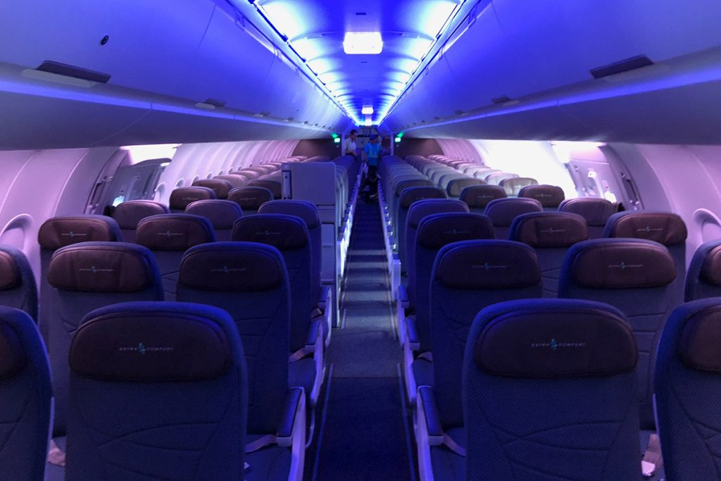 Hawaiian Airlines Aircraft Fleet Airbus A321neo Economy Class Cabin Interior Design with 3 3 Seats layout Configuration