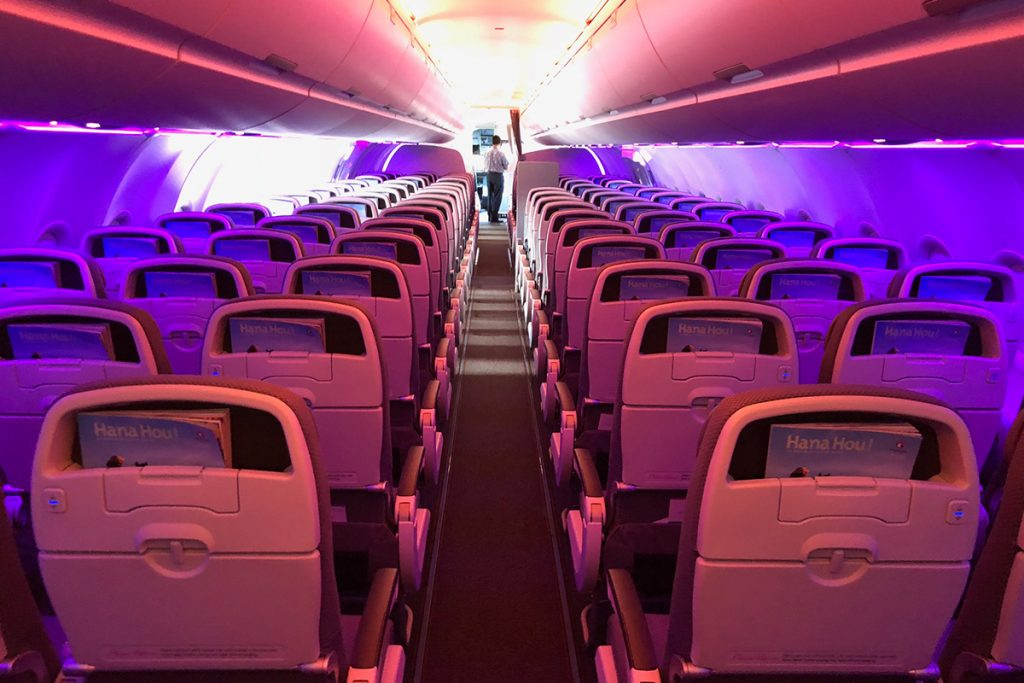 Hawaiian Airlines Aircraft Fleet Airbus A321neo Economy Class Single Aisle Cabin with 3 3 Seats layout Configuration