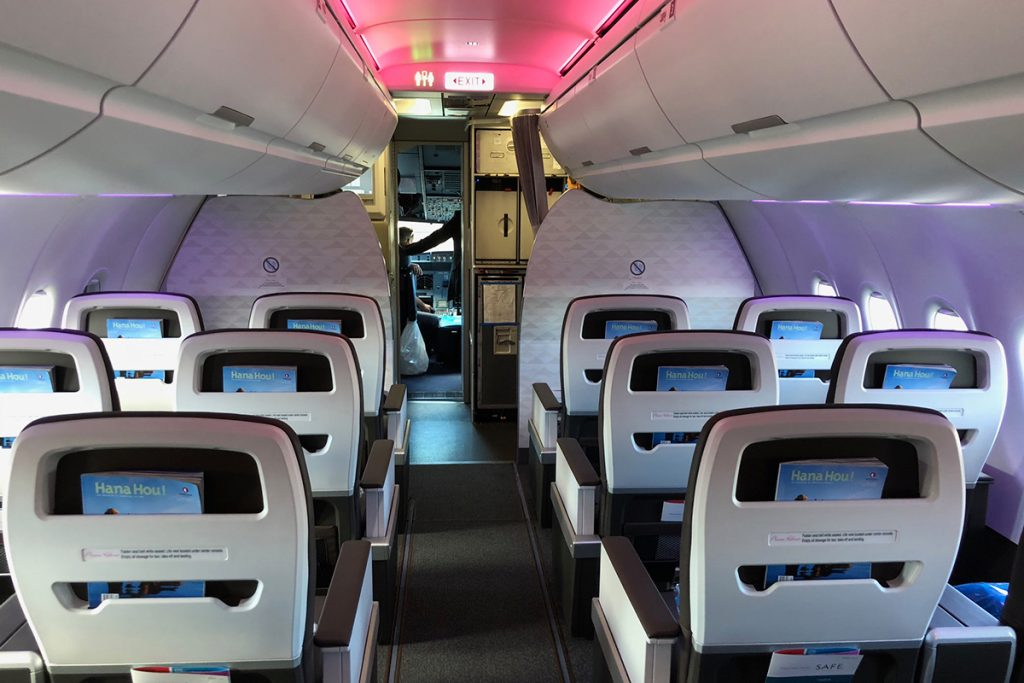 Hawaiian Airlines Aircraft Fleet Airbus A321neo First Class Cabin Interior Single Aisle Seats Rows Photos