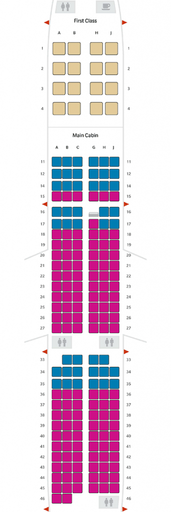 Hawaiian Airlines Aircraft Fleet Airbus A321neo Seating Chart and Seat Map