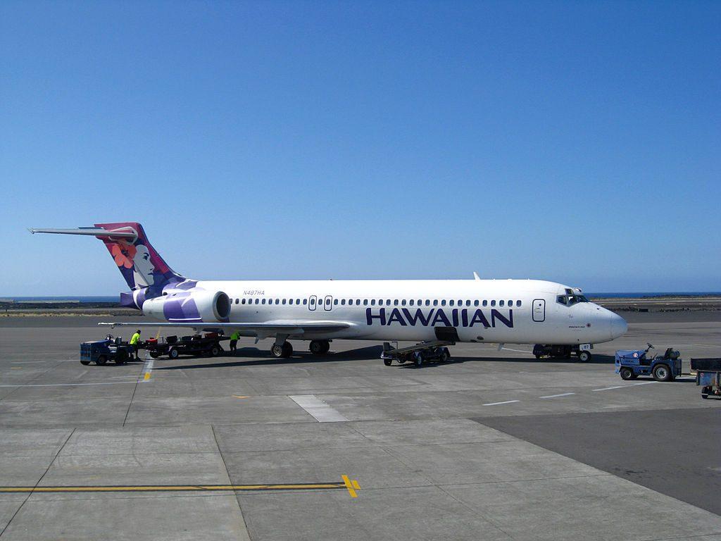 Hawaiian Airlines Boeing 717 200 N487HA ʻIo at Kona International Airport KOA in December 2009