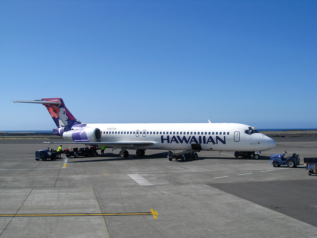 Hawaiian Airlines Boeing 717 200 N487HA ʻIo at Kona International Airport KOA in December 2009