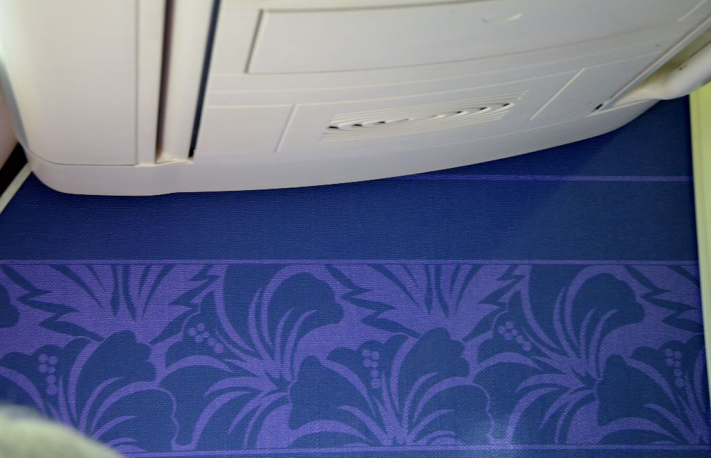 Hawaiian Airlines Boeing 717 200 first class cabin carpet wall photos
