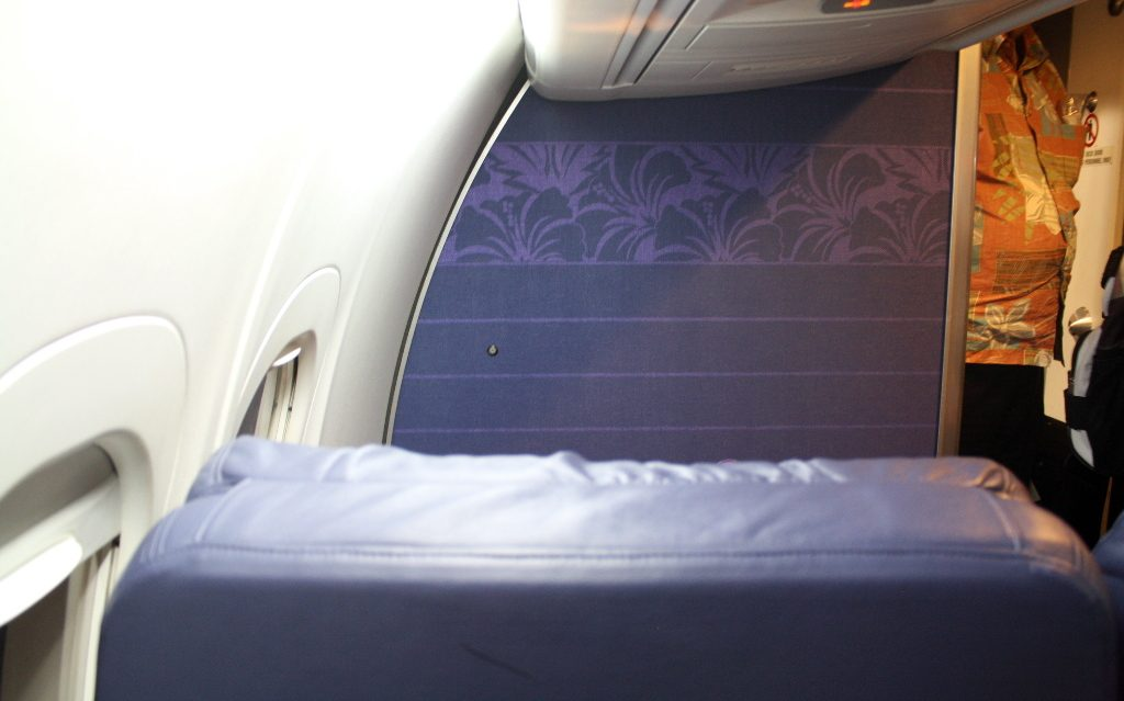 Hawaiian Airlines Boeing 717 200 first class cabin view from seats