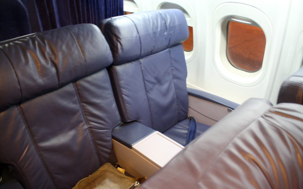 Hawaiian Airlines Boeing 717 200 first class seats are plush and comfortable