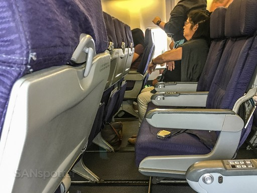 Hawaiian Airlines Boeing 767 300ER Economy Class Cabin Section seats rows layout @SANspotter