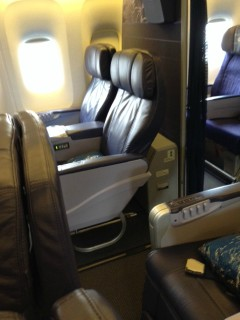 Hawaiian Airlines Boeing 767 300ER First Class Cabin seats 3H and 3J