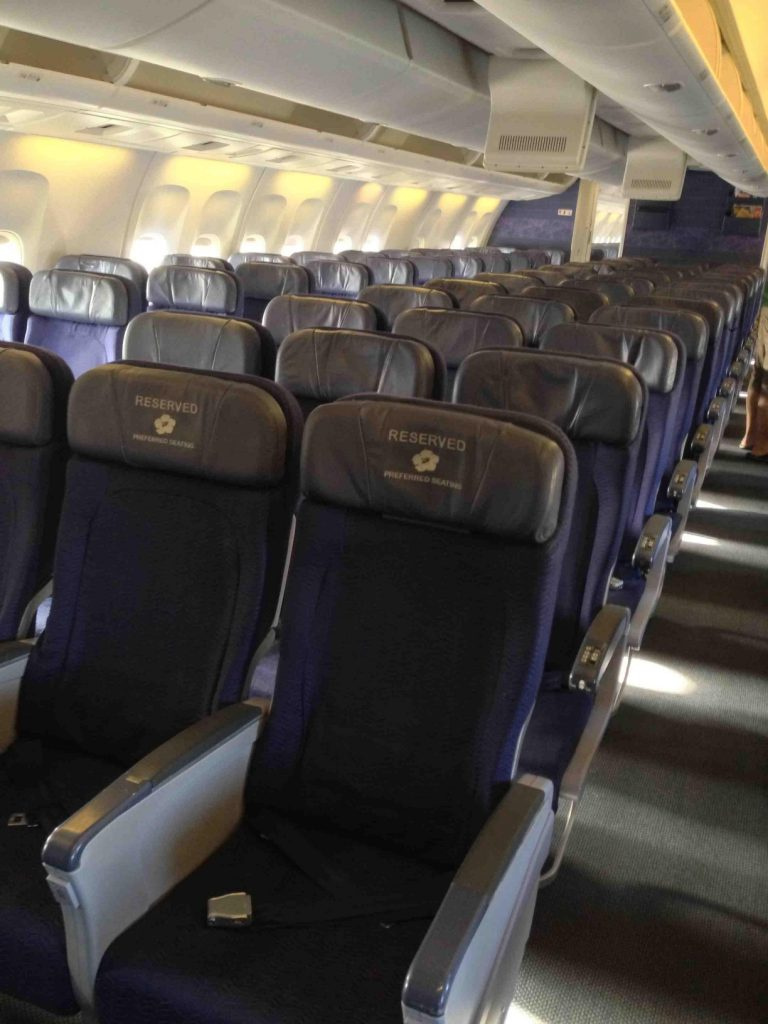 Hawaiian Airlines Boeing 767 300ER Main Cabin Economy Class Seats Layout Configuration