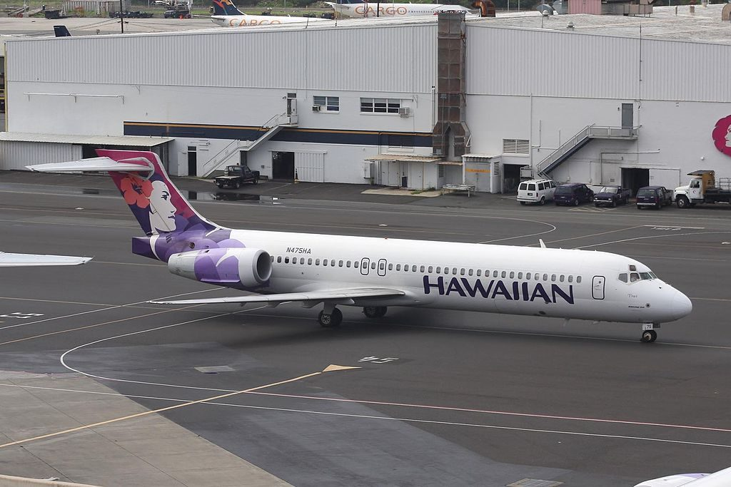 Hawaiian Airlines Fleet Boeing 717 22A N475HA Iiwi at HNL Honolulu International Airport
