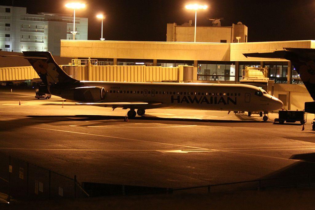 Hawaiian Airlines Fleet Boeing 717 22A cnserial number 551265073 N481HA Alauahio at Honolulu International