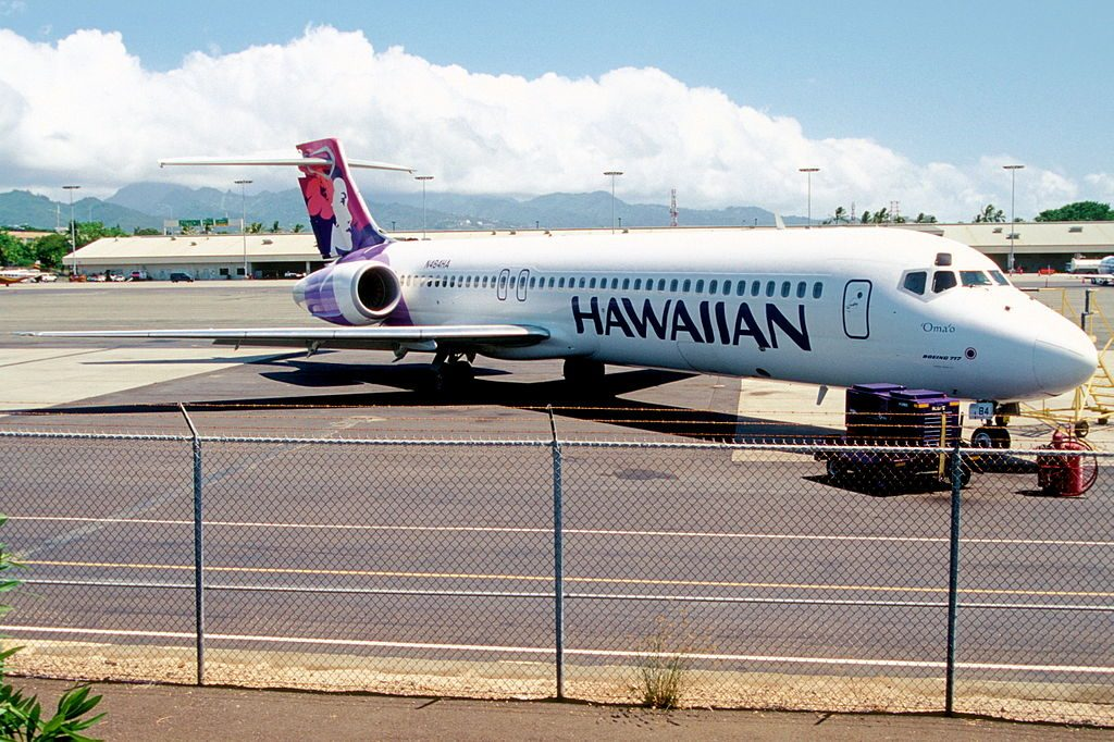 Hawaiian Airlines Fleet Boeing 717 22A cnserial number 551295080 N484HA Omao at HNL