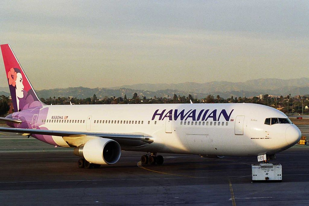 Hawaiian Airlines Fleet N580HA Kolea Boeing 767 33AERWL cn 28140 at Los Angeles International LAX KLAX USA California