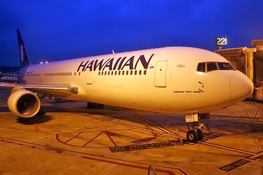 Hawaiian Airlines N580HA Kolea Boeing 767 33AERWL cn 28140 at San Diego International Airport KSANSAN