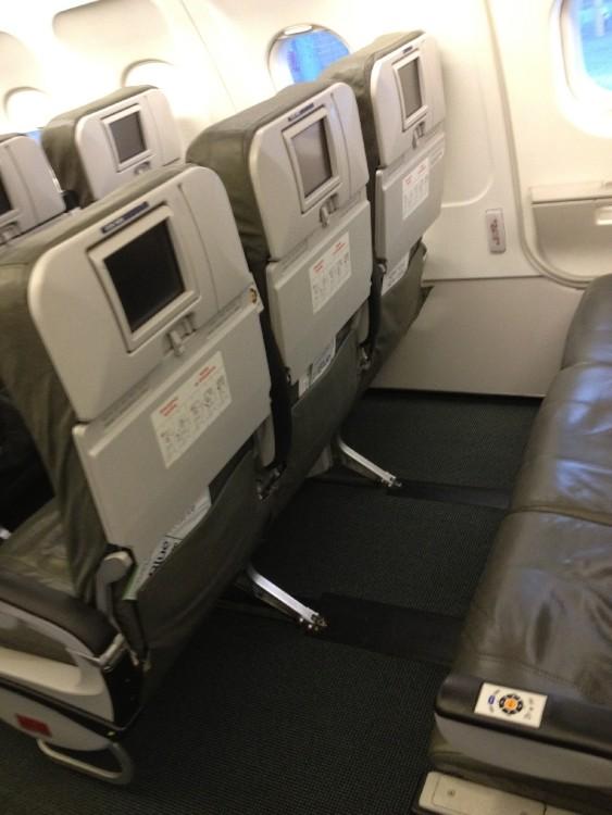 JetBlue Airbus A320 200 Cabin Exit Row Seats No Recliner