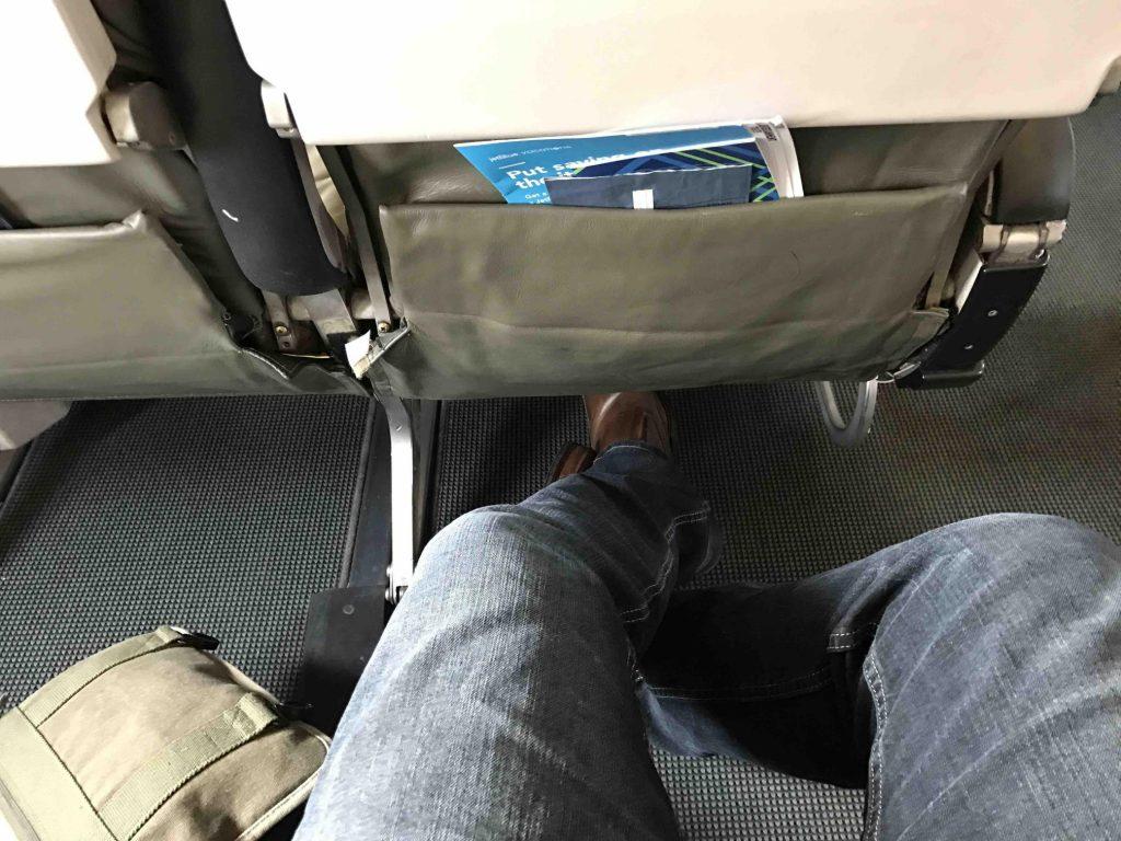 JetBlue Airbus A320 200 Pretty good seat pitch legroom