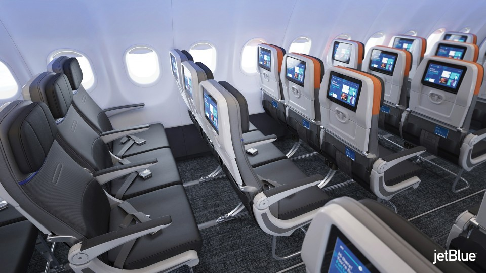JetBlue Airbus A320 200 Restyled Interior Cabin Inflight Services HD IFE system entertainment
