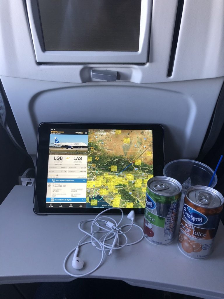 JetBlue Airways Airbus A320 200 Economy Cabin Coach Seats Inflight Services Free WiFi and Drinks Services