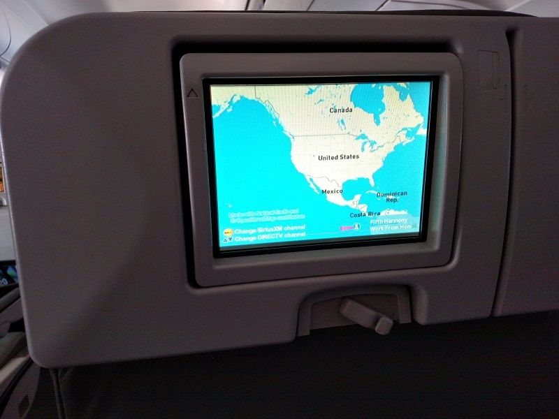 JetBlue Airways Airbus A320 200 Economy Cabin Individual IFE system screen with limited programs